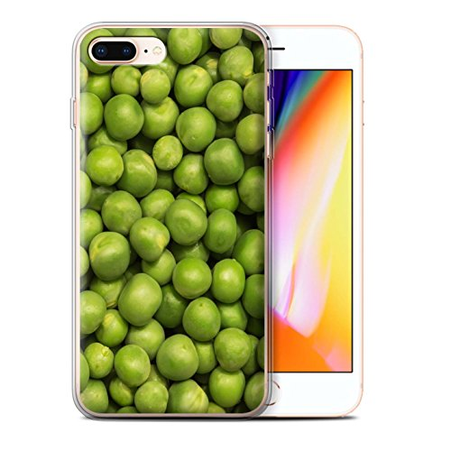 Stuff4 Gel TPU Hülle / Case für Apple iPhone 8 Plus / Pack 10pcs / Lebensmittel Kollektion Grüne Erbsen