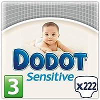 Dodot Protection Sensitive - Pañales Talla 3 (5-10 kg), Paquete de 3 x 74 Pañales - Total: 222 Pañales