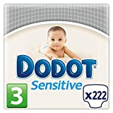 Dodot Protection Plus Sensitive - Pañales Talla 3 (5-10 kg), Paquete de 3 x 74 Pañales - Total