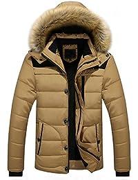 74934b20c372 ESAILQ Herren Männer Draussen Warmer Winter Dicke Jacke plus Fell Kapuze Mantel  Jacke