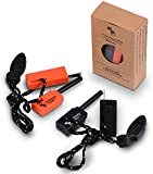 The Friendly Swede Keychain Emergency Fire Starter with Whistle (2-pack) - LIFETIME WARRANTY