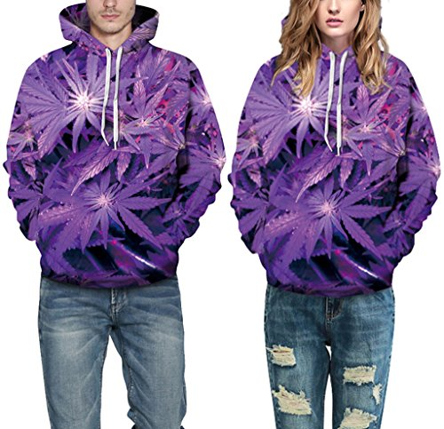 Pretty321 Women Girl Beauti Fantasy Purple Leaves Hoodie Sweatshirt with Pocket Amazon