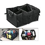 Organizador multifuncional, caja de herramientas plegable y resistente al agua de tejido Oxford, bolsa de almacenamiento para maletero de coche (color negro)