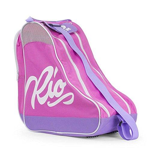 Rio Roller Unisex-Erwachsene Script Skate Bag Stofftasche, Mehrfarbig (Pink/Lilac), 24x15x45 Centimeters