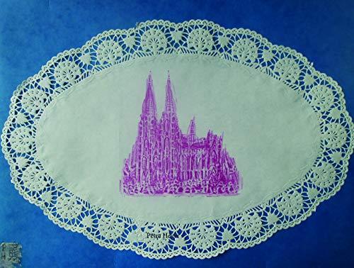 Kölner Dom echt Spitze in Pink (Echter Spitze)