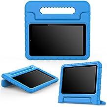 "MoKo Dragon Touch S8 Funda - Ultra Ligero Kids Shock Proof Cover Case con Manija / Fución de Soporte para Dragon Touch S8 8"" Intel Quad Core 64 bits Android Tablet, Azul"