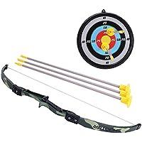 Mecotech Arcos y Flechas para Niños Juego de Disparos de Juguete con Establecer 1 Arco, 3 Flechas y 1 Objetivo