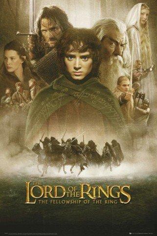 """1art1 59789, Poster """"Il Signore degli anelli"""", 91 x 61 cm"""
