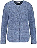 Gerry Weber Damen Jacke Strick Boxy-Style Strickjacke Blau Gemustert 44