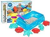 Premium Kinetischer Sand - See Set - HUKITECH Kreatives Spiel Kinetics Basteln Familienspiel Lernspiel - Bastelspiel mit hohem Spaßfaktor wie Kroko doc