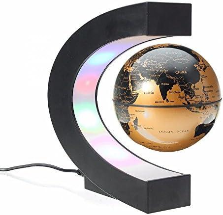 MIFXIN Créatif Créatif Créatif Globe Terrestre Lumineux Flottant Magnétique Lévitation Base en Forme C - Lévitation Globe Lamp avec Lumières LED pour Éducation Démonstration de l'enseigneHommes t, Décorations Maison d655d7