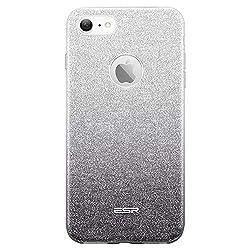ESRGlitzer Bling Hülle kompatibel mitiPhone7,iPhone8 Hülle [Glänzende Mode] Designer Schutzhülle füriPhone7/8 4.7 Zoll - Silber/Schwarz