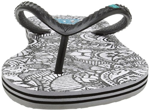 DC - Sandali infradito SPRAY GRAFFIK J SNDL BK1, Donna Black/White