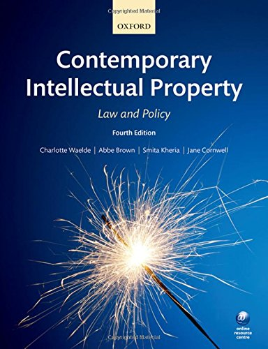 Contemporary Intellectual Property: Law and Policy por Charlotte Waelde