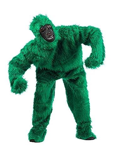 Gorilla Deluxe Kostüm grün L (Deluxe Gorilla-kostüm)