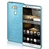 Huawei Mate 7 Hülle Silikon Türkis [OneFlow Brushed