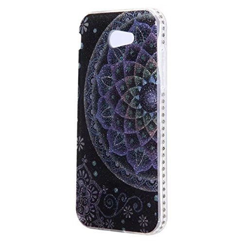 Bling Sparkle Glitter Rhinestone Resin Diamant Schützende Rückseite Cover Case Soft TPU Shell Stoßfänger [Shock Absorbtion] für Samsung Galaxy J3 2017 ( Color : B ) F