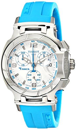 T048.217.17.017.02 Tissot  Women's 36mm Blue Rubber Band Steel Case S. Sapphire Quartz White Dial Watch