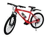 Best Hybrid Bicycles - Cosmic Flash 26T 21-Speed MTB Bicycle (Red/White) Review