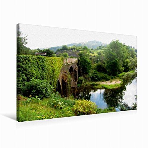 Calvendo Premium Textil-Leinwand 75 cm x 50 cm quer Brücke bei EL Portazgo   Wandbild, Bild auf Keilrahmen, Fertigbild auf echter Leinwand, Leinwanddruck