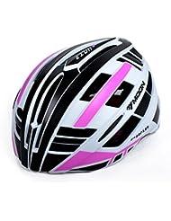 HYF-Aegis Casco de bicicleta ligera con luces traseras LED carretera / casco de bicicleta de montaña , purple , L