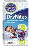 Huggies  DryNites 4-7 ans Garçon (17-30kg) x16 - Lot de 2