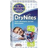Huggies Drynites 4-7 ans Garçon (17-30kg) - Sous-vêtements de Nuit Absorbants pour Enfants qui font Pipi au Lit - x32 Culottes (Lot de 2 Paquets de 16)