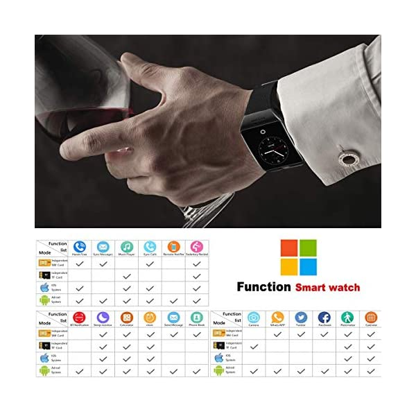 Smartwatch, Impermeable Reloj Inteligente Redondo con Sim Tarjeta Camara Whatsapp, Bluetooth Tactil Telefono Smart Watch… 8