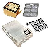 6 Staubsaugerbeutel (aus Mikrovlies) + HEPA Filter + Motorschutzfilter + 6 Duftstäbchen für Vorwerk Kobold VK 135, 136, VK135, VK136