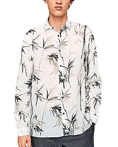 Zara Homme Chemise imprimée à feuilles de chanvre 5813/430 (Small)