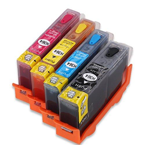 4PK 364XL Nachfüllbare Tintenpatrone ersetzt HP 364-Tinte, funktioniert für HP Deskjet...