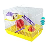 Pet Ting Sunflower Hamster Cage Gerbil Mouse Dwarf Mice Wheel Yellow