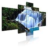 Dekoarte 1 - Cuadro moderno en lienzo 5 piezas paisaje naturaleza catarata, 180x3x85cm