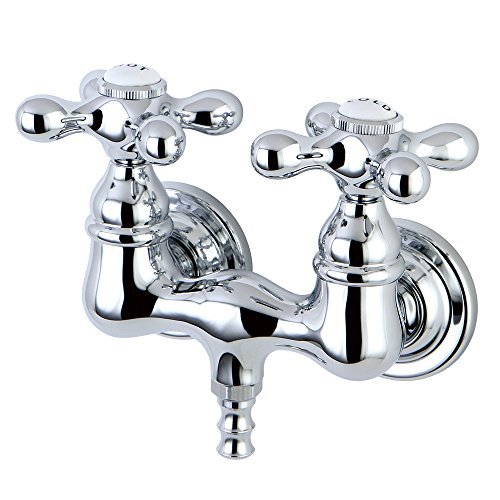 Leg Tub (Kingston Brass CC38T1 Vintage Leg Tub Filler, Metal Cross Handle, Polished Chrome by Kingston Brass)