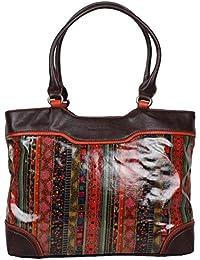 Patrick BLANC - sac à main femme Porté épaule Must Noir/Fushia IIJ8tEU