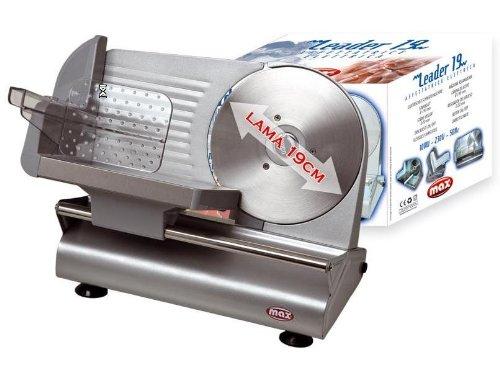 Affettatrice elettrica lama in acciaio da 19cm inox taglia affetta 120w spessore 0-20mm