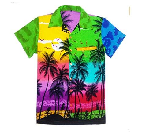 fe1482353 MENS HAWAIIAN SHIRT STAG BEACH HAWAII ALOHA PARTY SUMMER HOLIDAY FANCY MIX  PALM