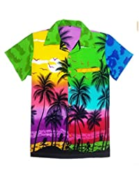 8c548410 Mens Hawaiian Shirt STAG Beach Hawaii Aloha Party Summer Holiday Fancy Mix  Palm