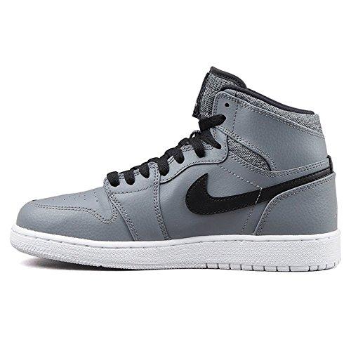 Nike Jungen Air Jordan 1 Retro High BG Basketball Turnschuhe, Grau (Cool Grey Schwarz-Weiß), 38 EU (Schwarz Und Jordans Air Grau)