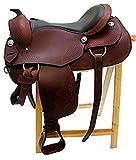 Westernsattel ATLANTA aus Büffelleder hoher Qualität Reining Sattel Neu, Größe:16 Zoll