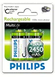 Philips Multi Life NiMH Akku C Baby 2450 mAh 2er