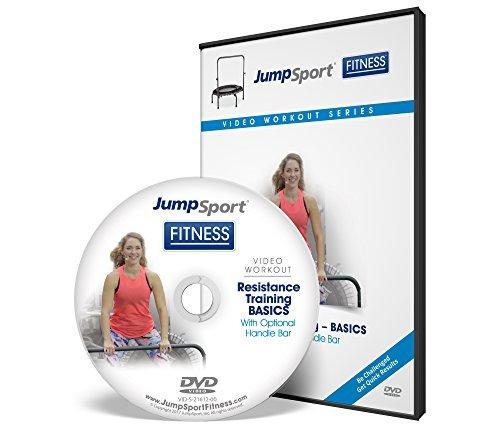 JumpSport Fitness Trampolin Workout DVDs - Kraft- und Widerstandstraining - Kettlebell und Flache Bänder erhältlich