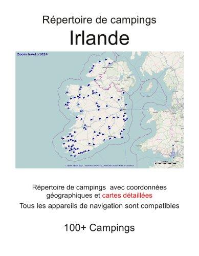 Répertoire de campings IRLANDE (avec coordonnées géographiques et cartes détaillées)