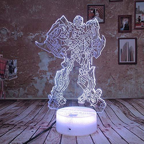 3D Nachtlicht Junge Geschenk Transformatoren Illusion Schreibtisch Tisch Led Nachtlicht Bunte Lamparas Lampe Kind Kinder Urlaub Weihnachten Party De