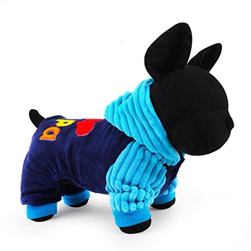 Morza Ich Liebe Papa und Mama Winter-Hunde-Bekleidung Hundekleidung Kleine Big Dog mit Kapuze Vier Fuß Mäntel Jacken