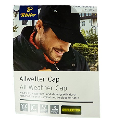 Preisvergleich Produktbild TCM Tchibo Allwettercap Allwetter Kappe Cap Mütze schwarz Einheitsgröße