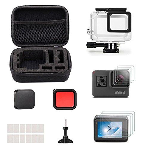iTrunk 23 in 1 GoPro Hero 5 Zubehör Kit mit kompakter Anti-Stoß Schutzhülle – Bundle für GoPro Hero 5 Action Kamera