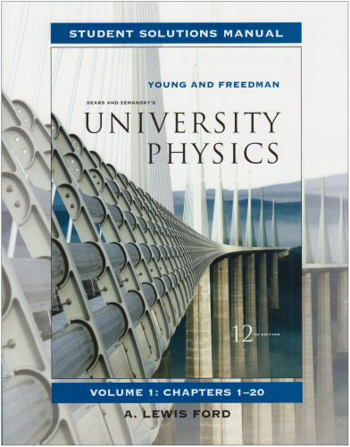 Student Solutions Manual for University Physics Vol 1: Student Solutions Manual v. 1, Chapters 1-20
