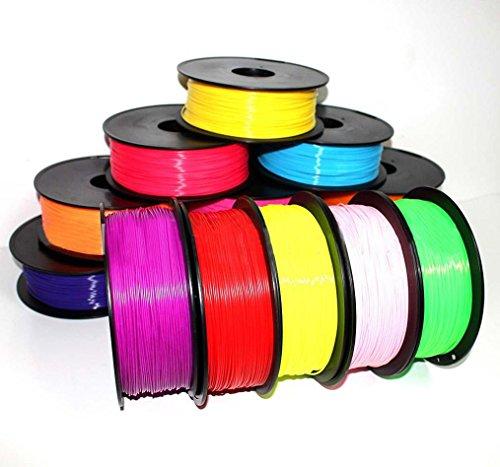 Hunpta 10 × 1,75 mm Druck Filament ABS Modellierung Stereoskopisch Für 3D Zeichnung Drucker Stift (A)