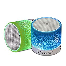 Erry Wireless Bluetooth Speaker With TF Card Slot USB Port Pause And Play Adjustments For Mobile Phones PC Tablets - Green